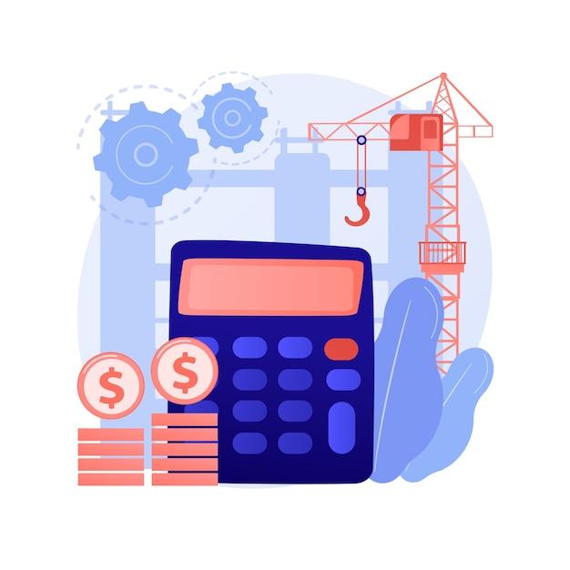 建設費の抽象的な概念 無料ベクター