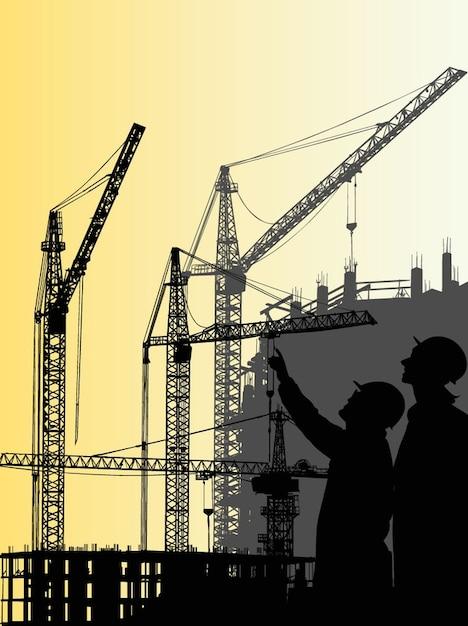 Construction crane graphics architecture\ vector