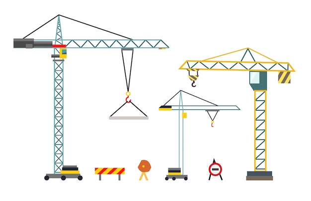 Construction crane Premium Vector