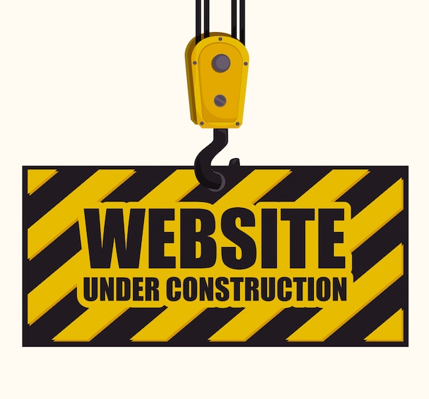 Under construction design. Premium Vector
