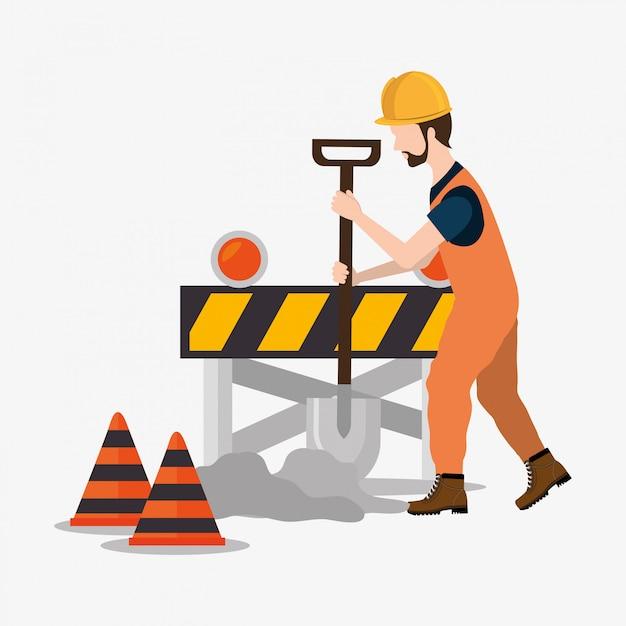 Under construction design Premium Vector