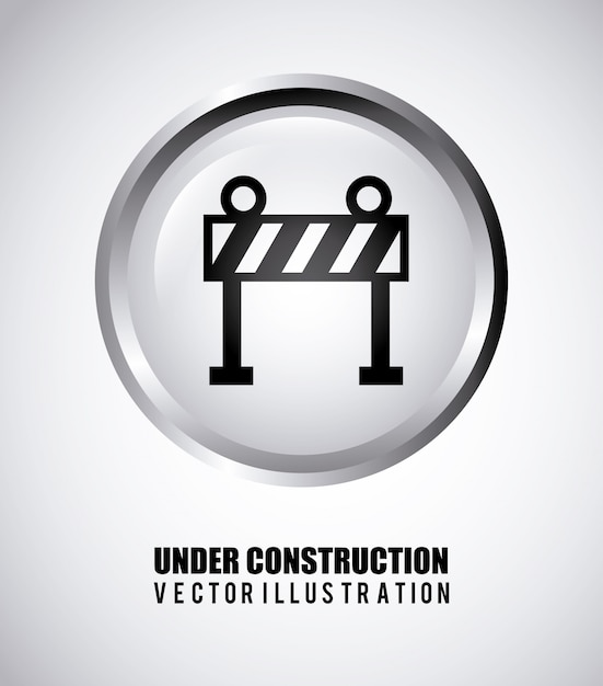 Under construction design Free Vector