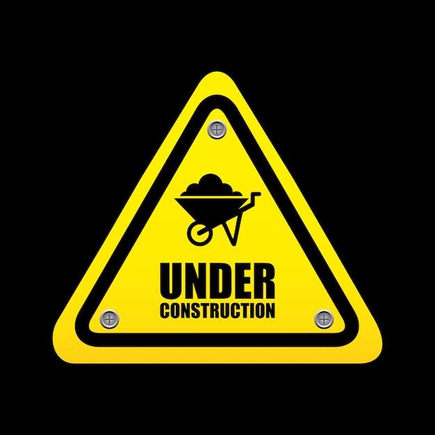 Under construction design Free Vector