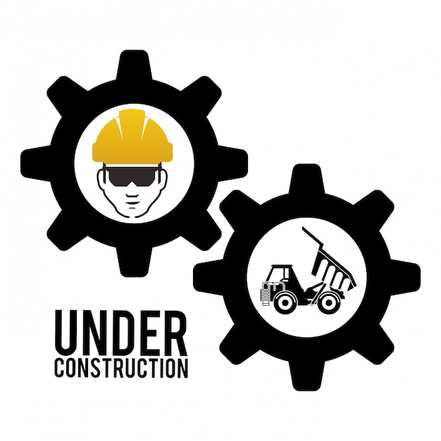 Under construction design Premium Vector