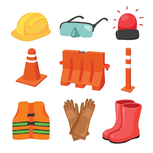 Construction elements collection Free Vector