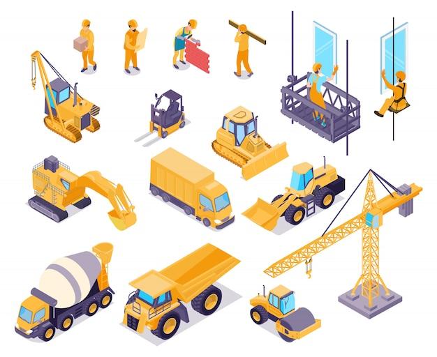 Set di elementi di costruzione Vettore gratuito