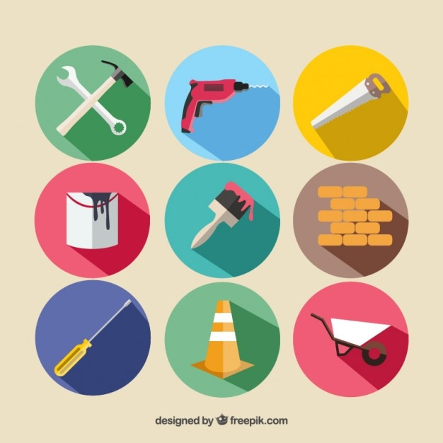 Construction equipment Premium Vector