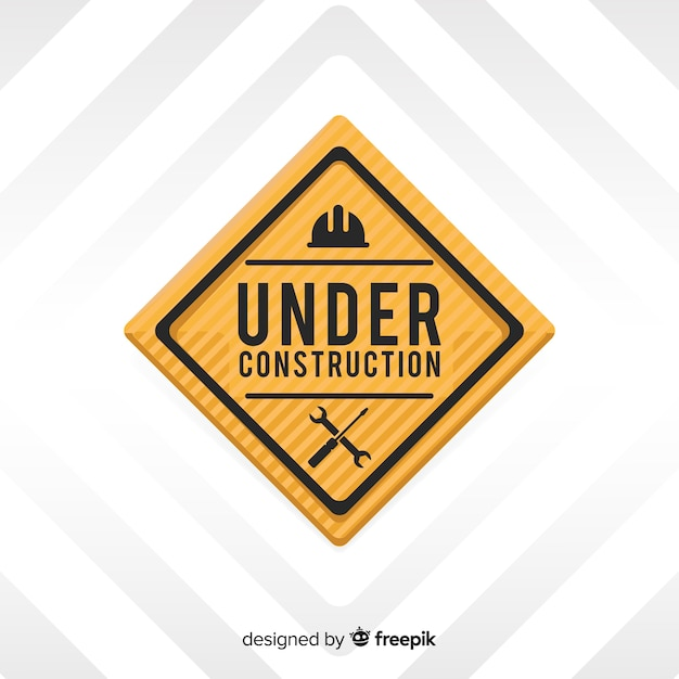 Under construction flat background Free Vector