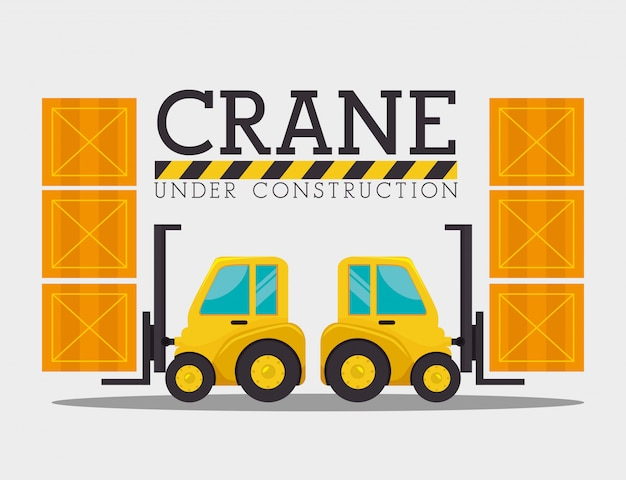 Under construction graphic advertising Free Vector