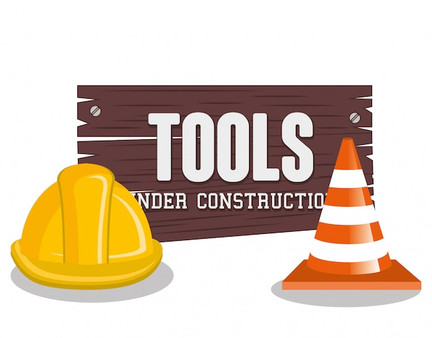 Under construction illustration Free Vector