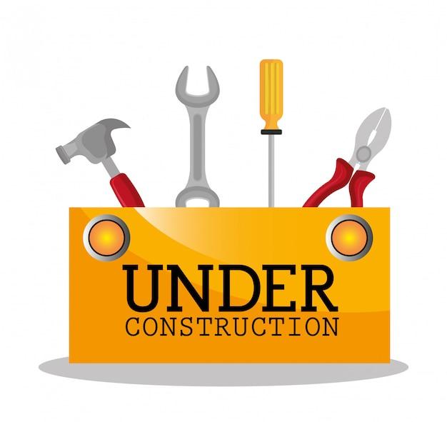Under construction illustration Free Vector
