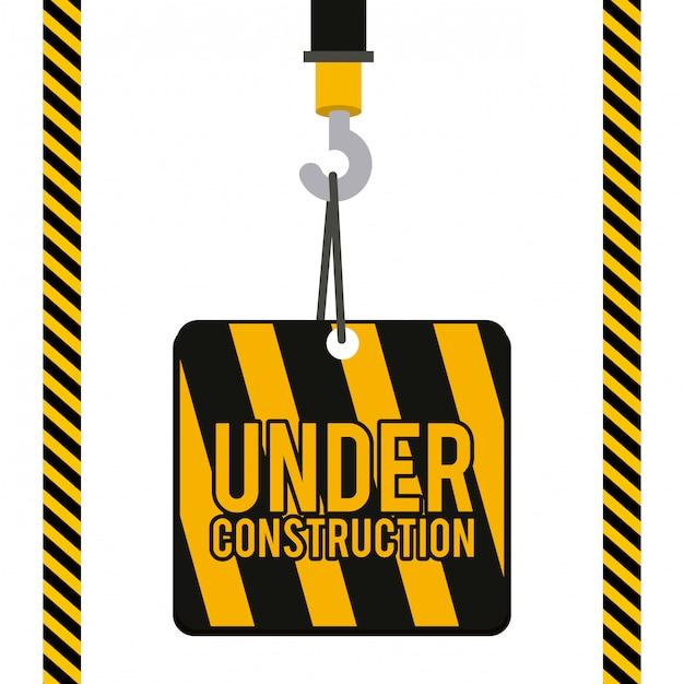 Construction illustration. Premium Vector