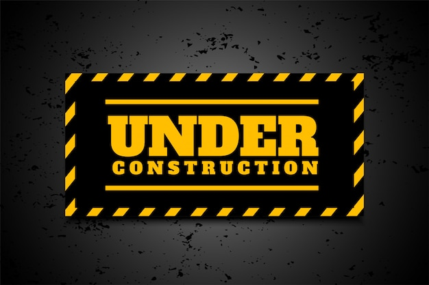Under construction industrial background in yellow black stripes Free Vector