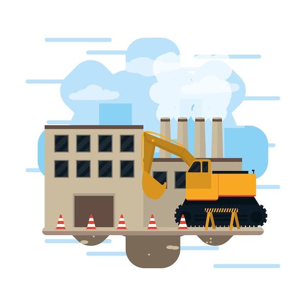Construction industry concept Premium Vector