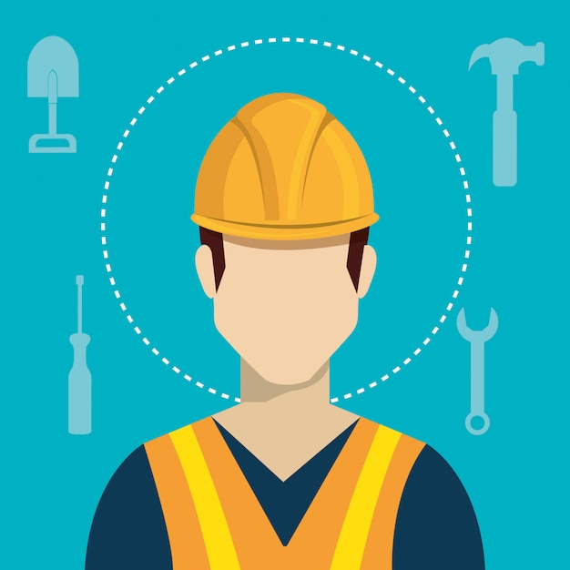 Construction industry and tools Free Vector