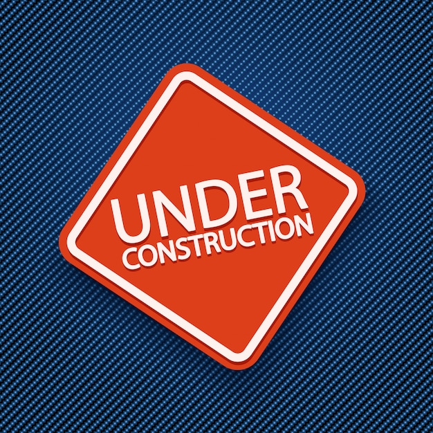 Under construction of jeans Premium Vector