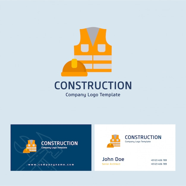 Construction logo and business card vector premium download construction logo and business card premium vector colourmoves