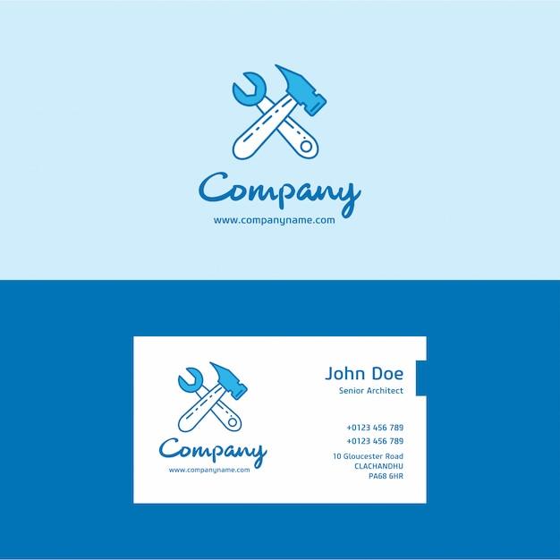 Construction logo and business card vector premium download construction logo and business card premium vector colourmoves