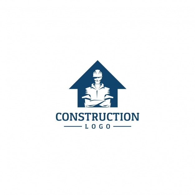 Construction logo background Vector | Free Download