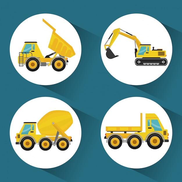建設機械のデザイン Premiumベクター