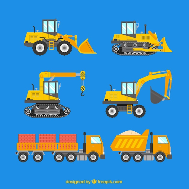 Construction machinery Free Vector