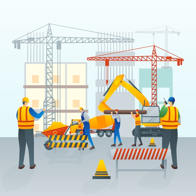 Under construction or maintenance Premium Vector