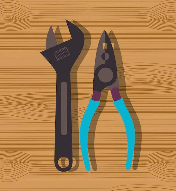 Construction repair tools graphic Free Vector