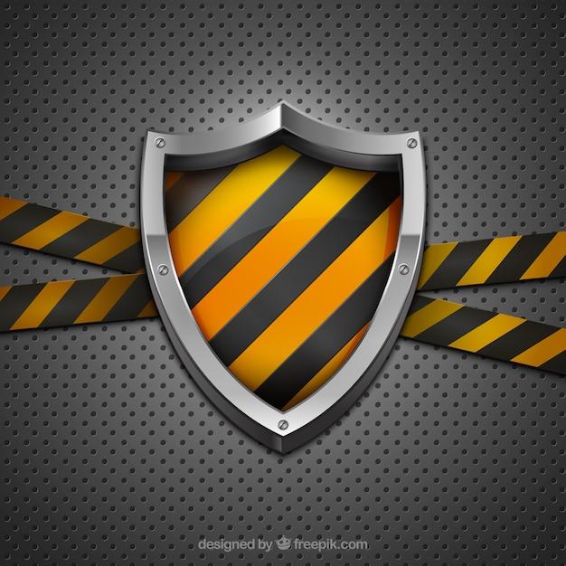 Construction shield Free Vector