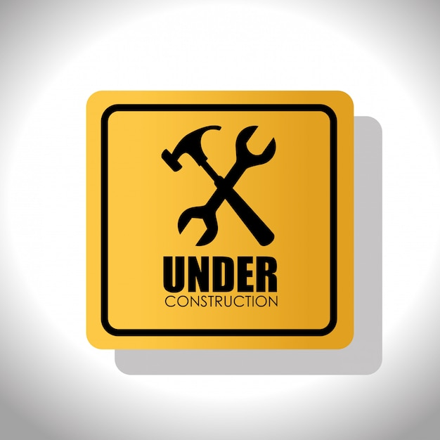 Under construction sign Free Vector