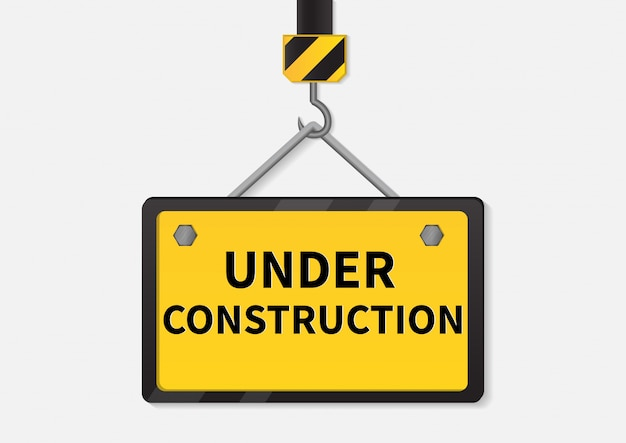 Under construction sign. Premium Vector