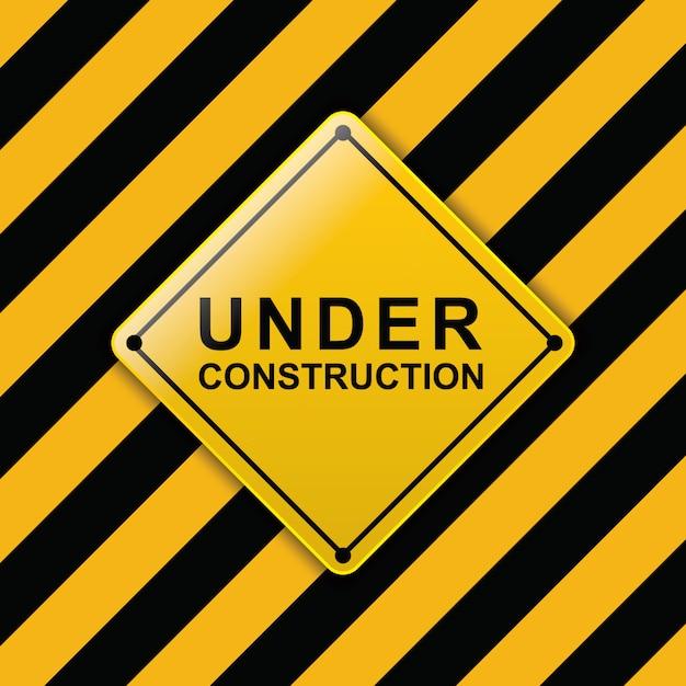 Under construction sign Premium Vector