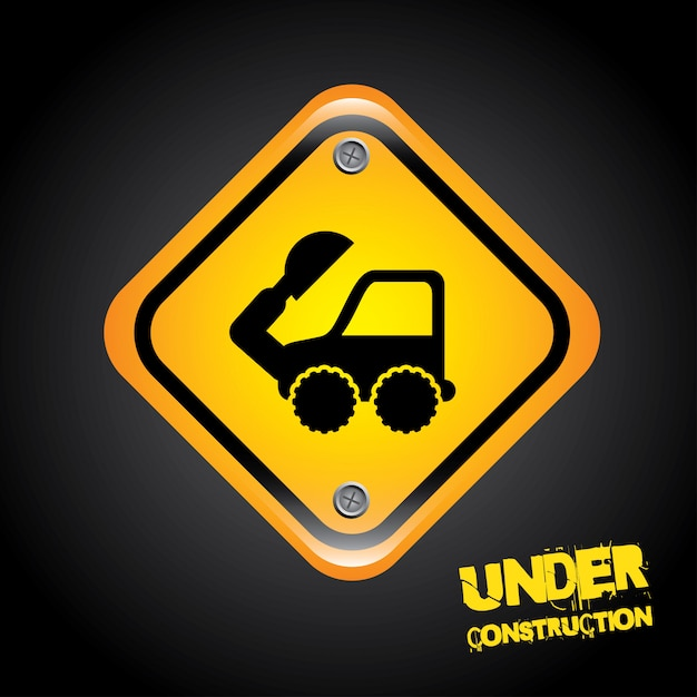 Under construction signal Premium Vector