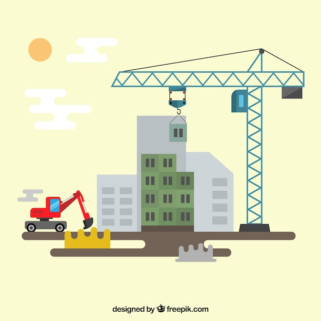 Construction site Vector | Premium Download