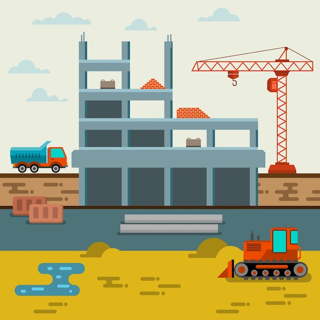 Construction site Vector | Free Download