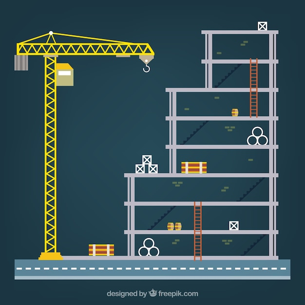 construction structure Free Vector