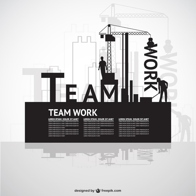 Construction Team Work Template Vector Free Download