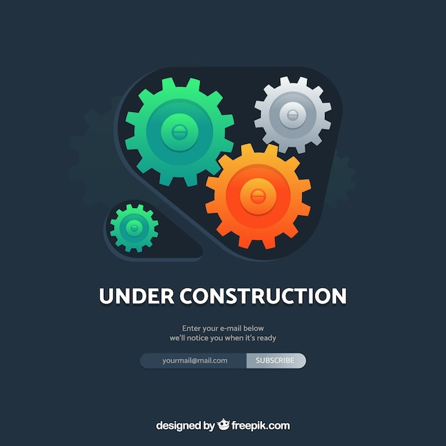 Under Construction Template In Flat Style Vector Free Download