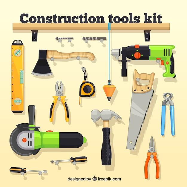 construction tool kit vector premium download