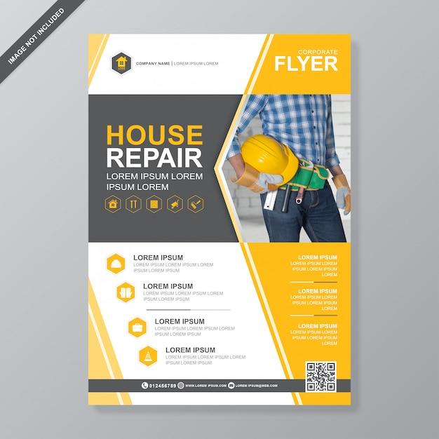 Construction tools cover Premium Vector
