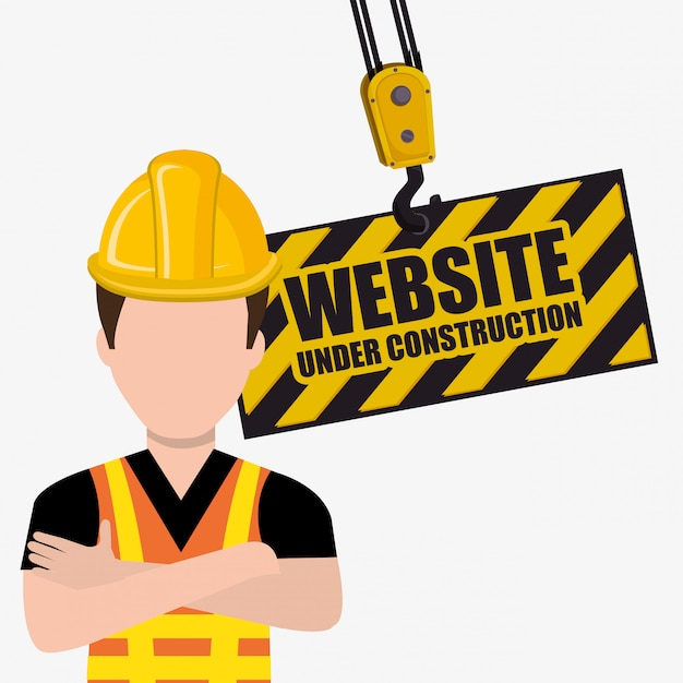Under construction and tools Free Vector
