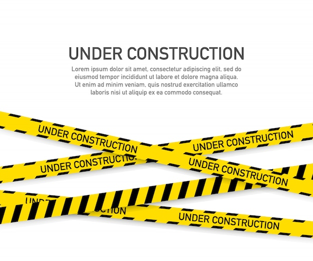 Under construction website page template Premium Vector