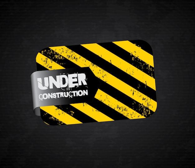 Under construction Premium Vector