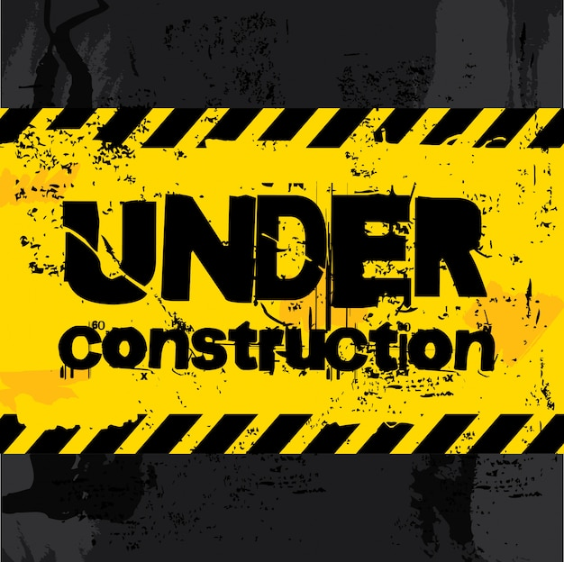 Under construction Premium Vector