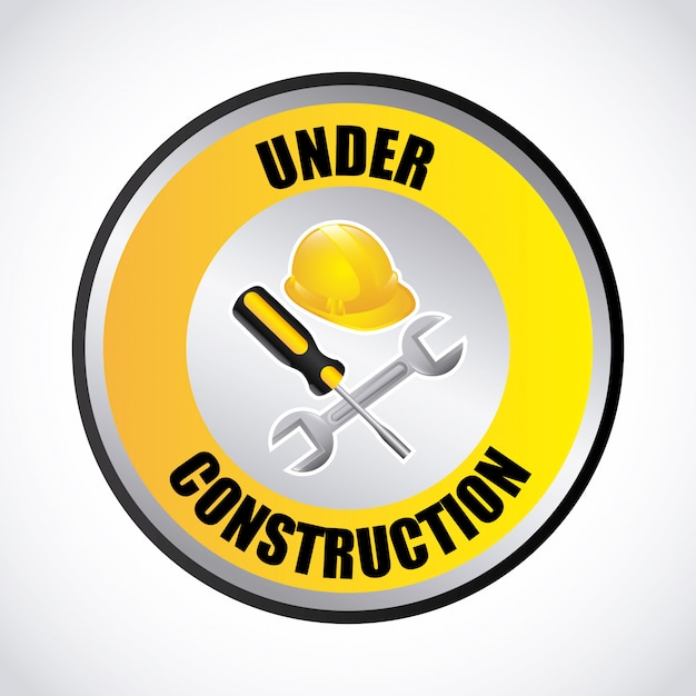 Under construction Free Vector