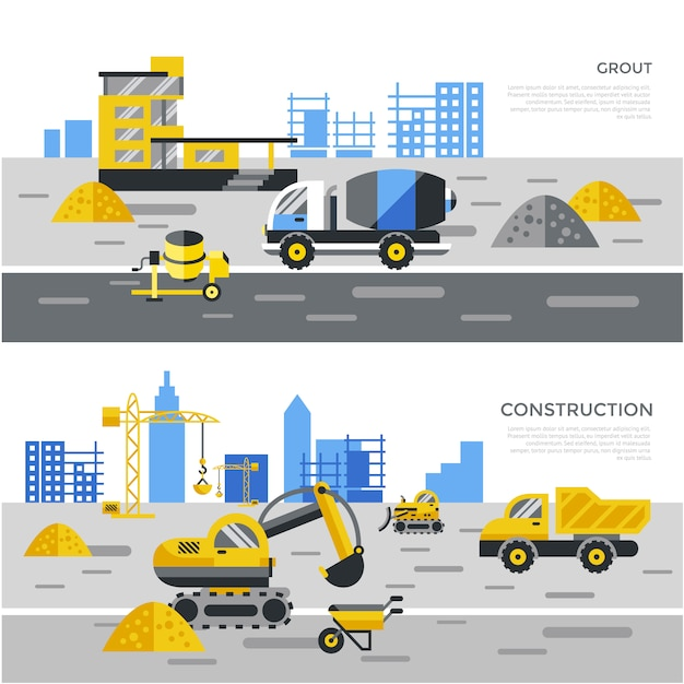 Constuction elements background Free Vector