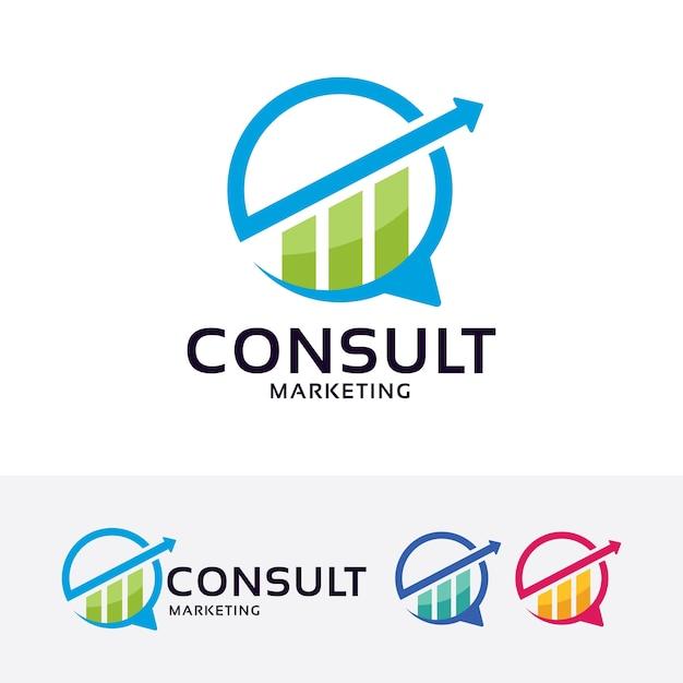 Consult marketing vector logo template vector premium download consult marketing vector logo template premium vector thecheapjerseys Choice Image