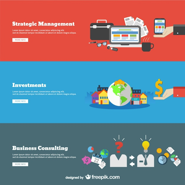 Consulting business concepts Free Vector