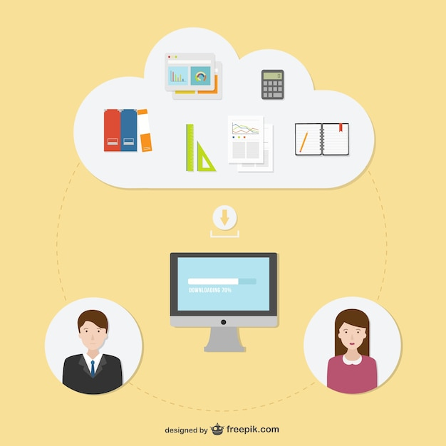 Consulting Business Illustration Vector Free Download