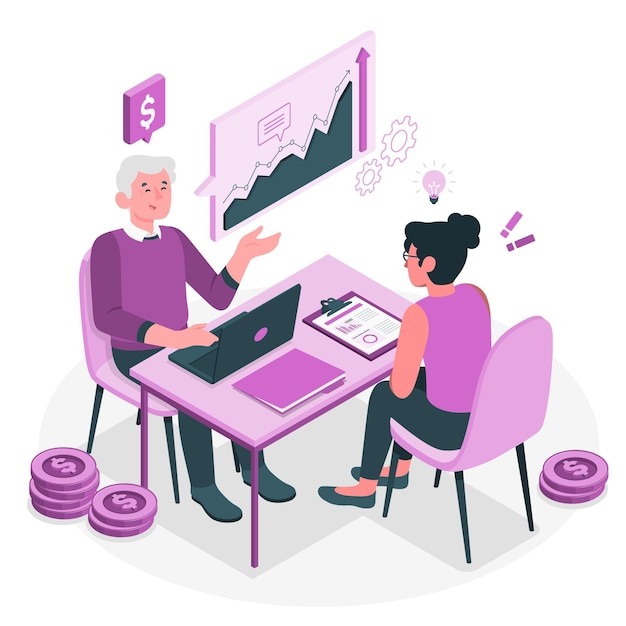 Consulting concept illustration Free Vector