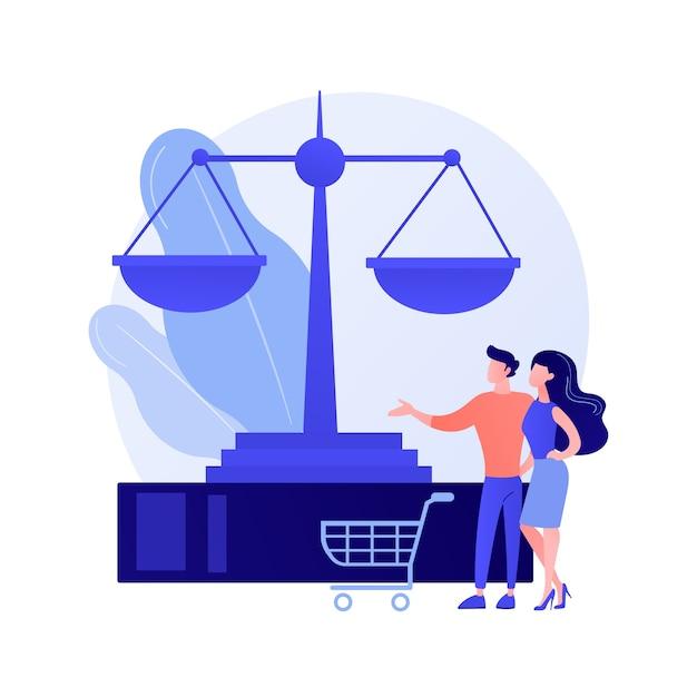 Абстрактное понятие потребительского права Бесплатные векторы